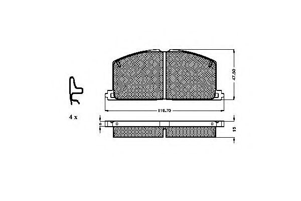 комплект спирачно феродо, дискови спирачки 31003