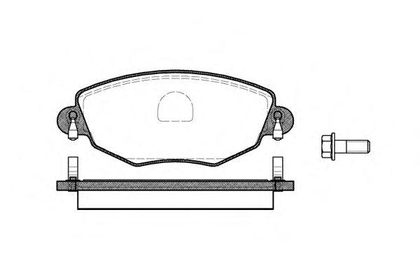 комплект спирачно феродо, дискови спирачки 0776.00