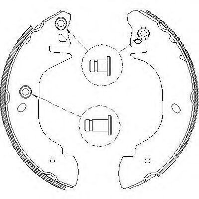 комплект спирачна челюст 4305.01