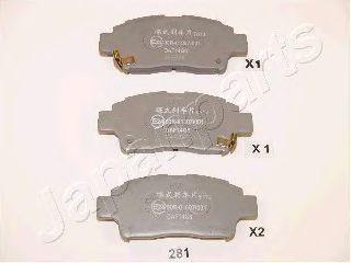 комплект спирачно феродо, дискови спирачки PA-281AF