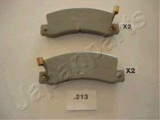 комплект спирачно феродо, дискови спирачки PP-213AF