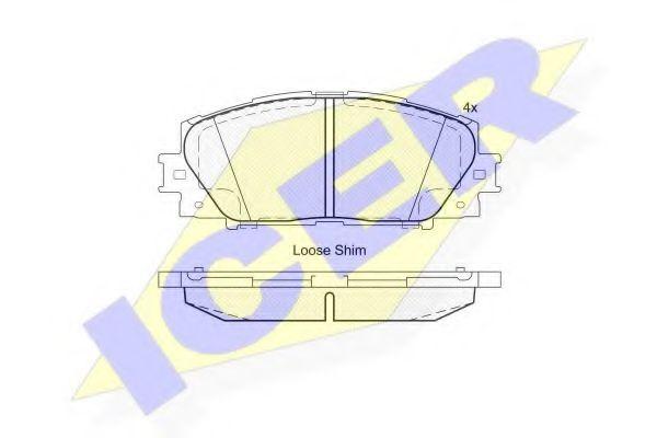 комплект спирачно феродо, дискови спирачки 181774