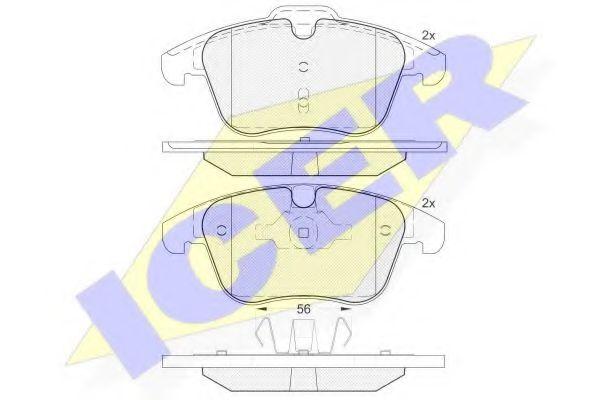 комплект спирачно феродо, дискови спирачки 181775