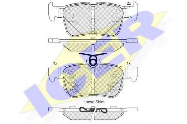 комплект спирачно феродо, дискови спирачки 182198-203