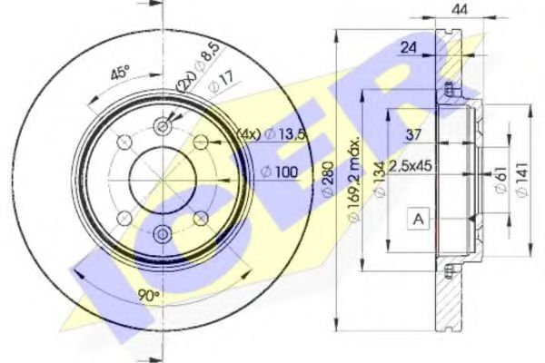 спирачен диск 78BD7829-2