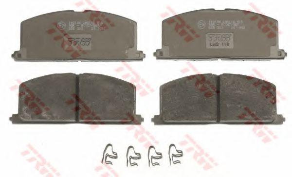комплект спирачно феродо, дискови спирачки GDB323