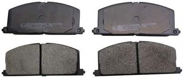 комплект спирачно феродо, дискови спирачки B110740