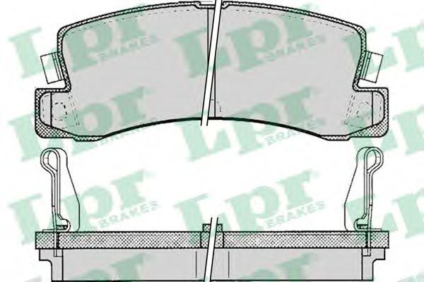 комплект спирачно феродо, дискови спирачки 05P061