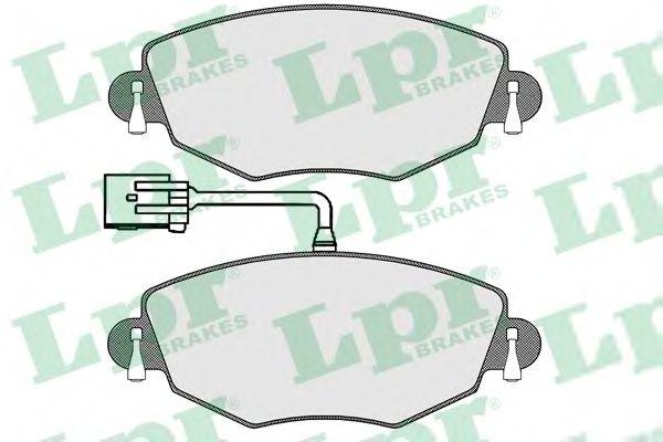 комплект спирачно феродо, дискови спирачки 05P1302