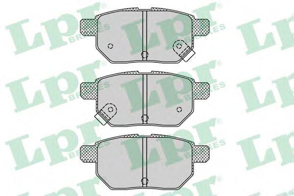 комплект спирачно феродо, дискови спирачки 05P1312