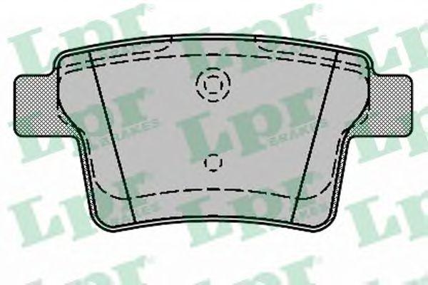 комплект спирачно феродо, дискови спирачки 05P1326
