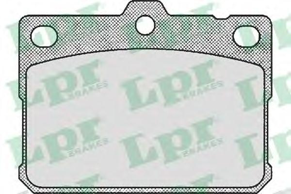 комплект спирачно феродо, дискови спирачки 05P169