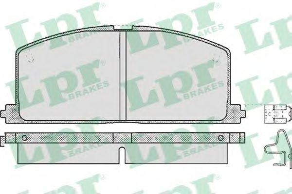 комплект спирачно феродо, дискови спирачки 05P268
