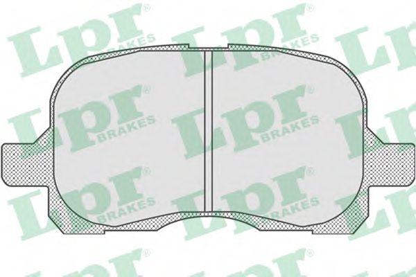 комплект спирачно феродо, дискови спирачки 05P768