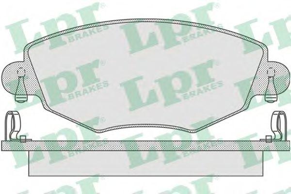 комплект спирачно феродо, дискови спирачки 05P865