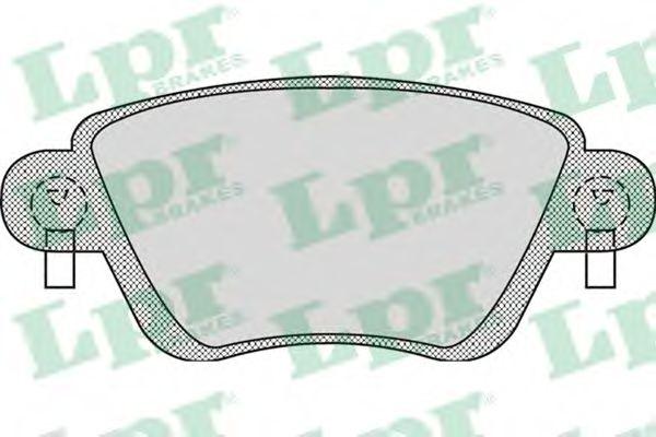 комплект спирачно феродо, дискови спирачки 05P897