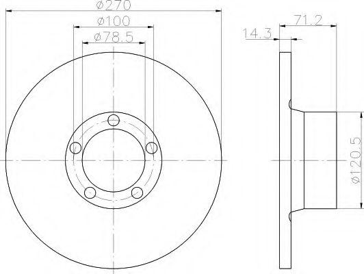 спирачен диск 8DD 355 100-291