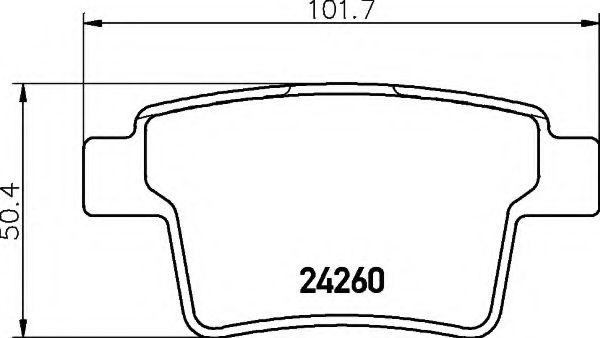 комплект спирачно феродо, дискови спирачки 8DB 355 012-171