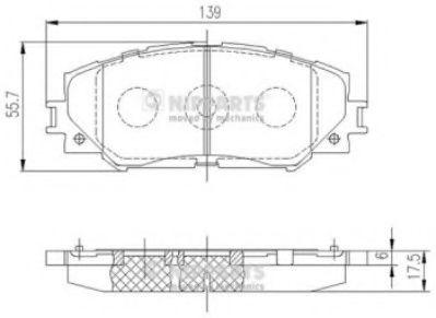комплект спирачно феродо, дискови спирачки J3602120