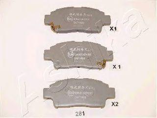комплект спирачно феродо, дискови спирачки 50-02-281