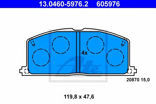 комплект спирачно феродо, дискови спирачки 13.0460-5976.2