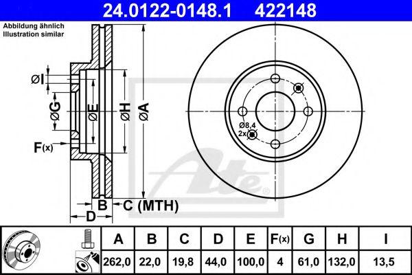 спирачен диск 24.0122-0148.1