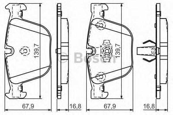 комплект спирачно феродо, дискови спирачки 0 986 494 294