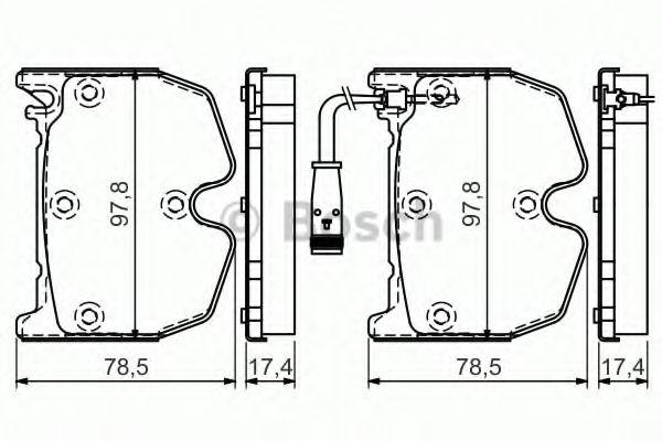 комплект спирачно феродо, дискови спирачки 0 986 494 364