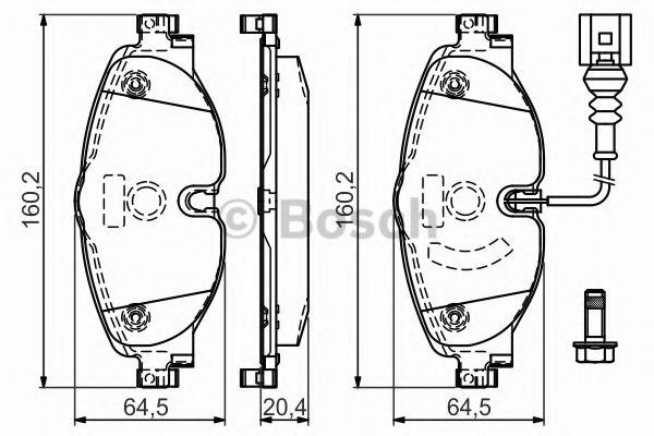 комплект спирачно феродо, дискови спирачки 0 986 494 660