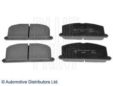 комплект спирачно феродо, дискови спирачки ADT34279
