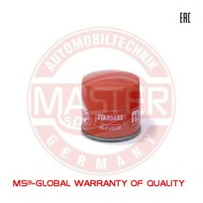 814/80-OF-PCS-MS OIL FILTER MASTER-SPORT WITH ONE ANTI-RETURN VALVE