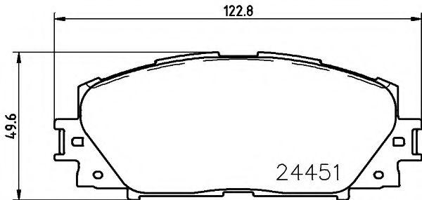 комплект спирачно феродо, дискови спирачки 2445103