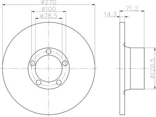 спирачен диск 92014900