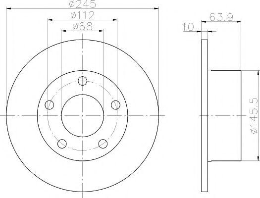 спирачен диск 92057503