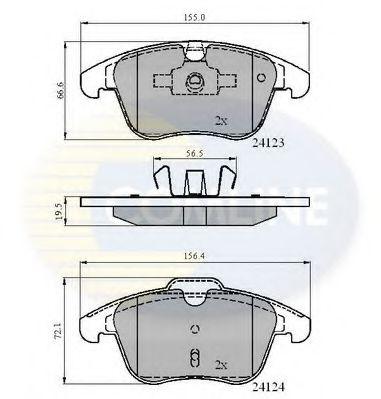 комплект спирачно феродо, дискови спирачки CBP01591