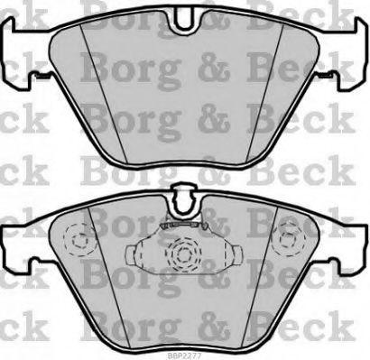 Ate - Teves Borg /& Beck BBP2548 Front Brake Pads