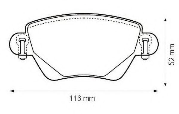 комплект спирачно феродо, дискови спирачки 573120J