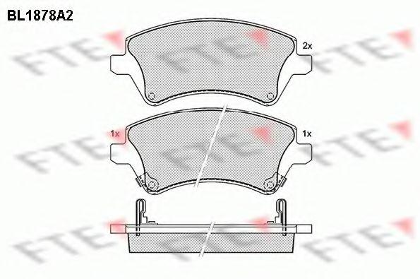 комплект спирачно феродо, дискови спирачки BL1878A2