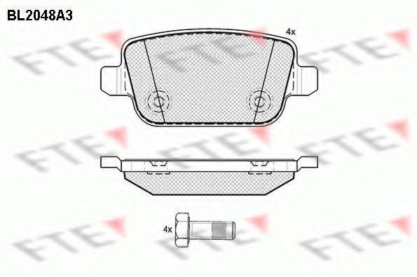 комплект спирачно феродо, дискови спирачки BL2048A3