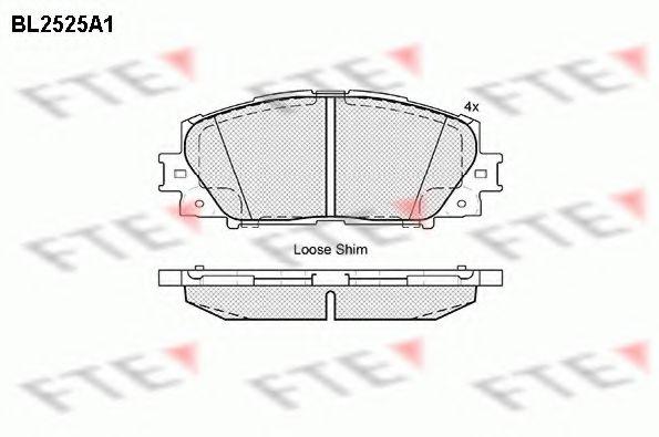 комплект спирачно феродо, дискови спирачки BL2525A1