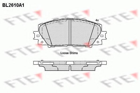 комплект спирачно феродо, дискови спирачки BL2610A1