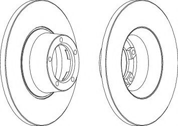 спирачен диск DDF084-1