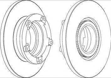 спирачен диск DDF1573-1
