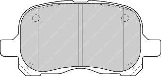 комплект спирачно феродо, дискови спирачки FDB1458