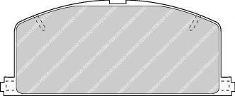 комплект спирачно феродо, дискови спирачки FDB308