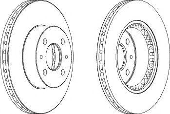 спирачен диск DDF1006
