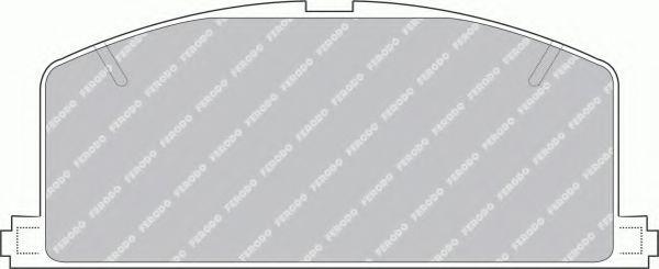 комплект спирачно феродо, дискови спирачки FSL308