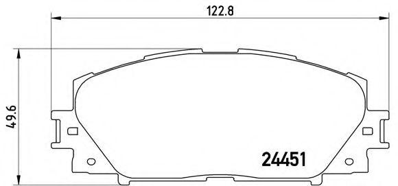 комплект спирачно феродо, дискови спирачки P 83 141