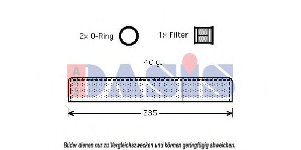 BEHR HELLA SERVICE 8FT 351 200-251  Filtro deshidratante aire acondicionado