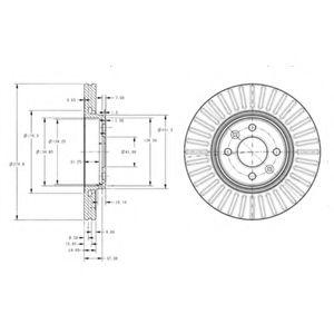 спирачен диск BG3430